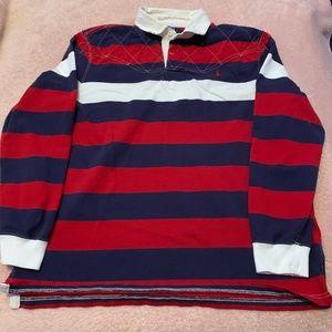 Men's Long Sleeve Striped Ralph Lauren Polo XXL